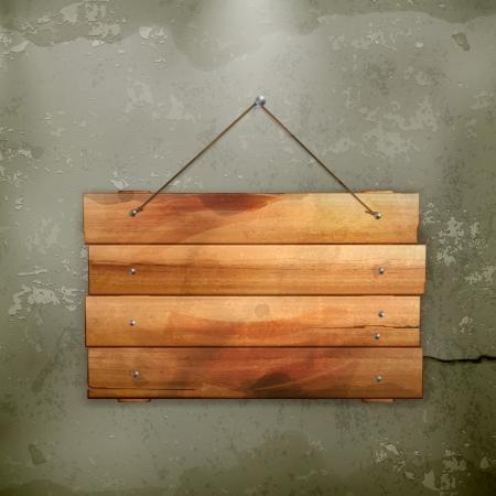 Tavola di legno, vecchio stile Vettoriali