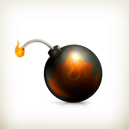 Bomb, icon Stock Vector - 18825014