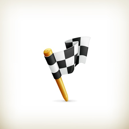 Checkered flag, icon Stock Vector - 18824984