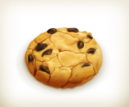 Chocolate cookie, icon Vector