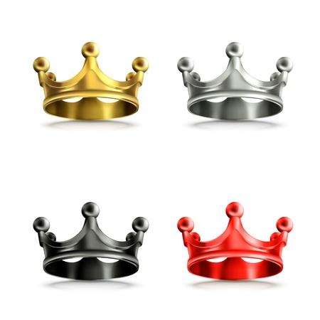 Multicolored crowns set Stock Vector - 18825019