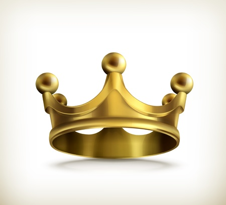 royal person: Gold crown Illustration