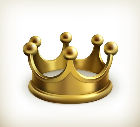 crown king: Gold crown Illustration