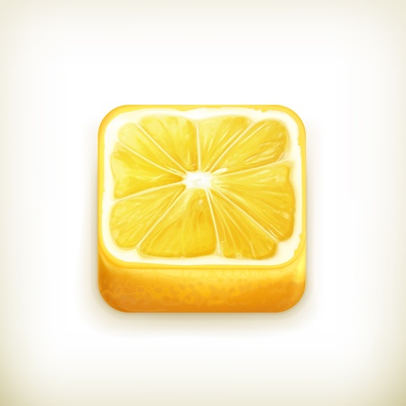 Lemon app icon Stock Vector - 18824977