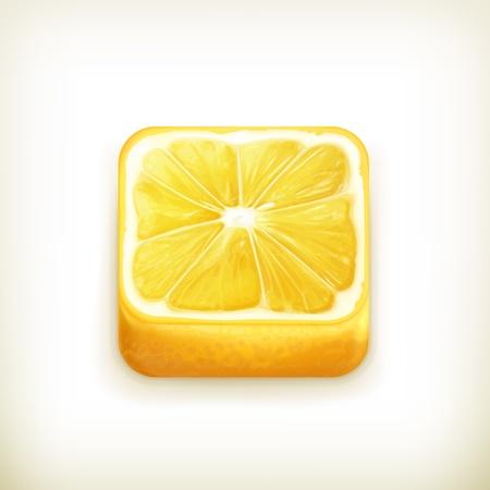 Lemon app icon Stock Vector - 18824977