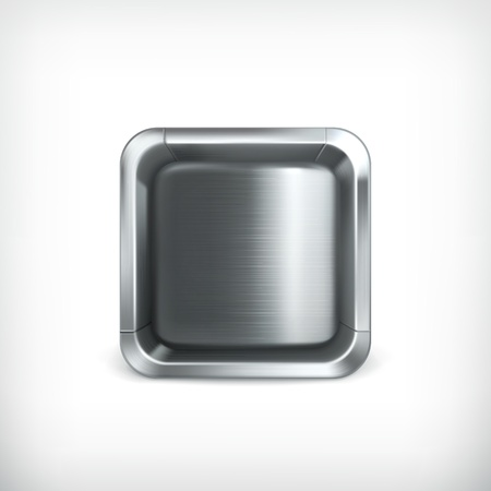 Metal box app icon Stock Vector - 18824967