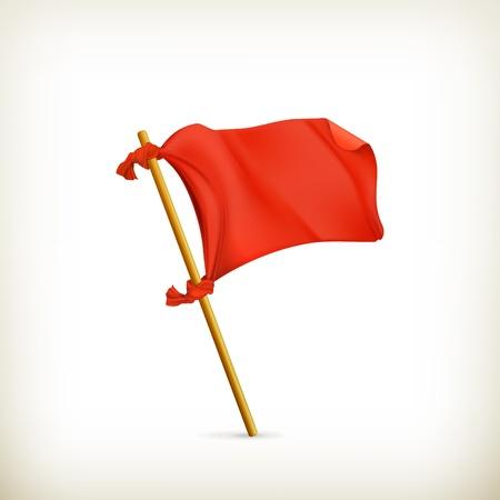 Drapeau rouge, icône