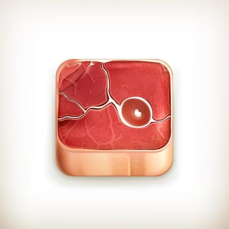 Steak app icon Stock Vector - 18824980