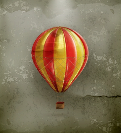 inflar: Globo del aire, de estilo antiguo Vectores