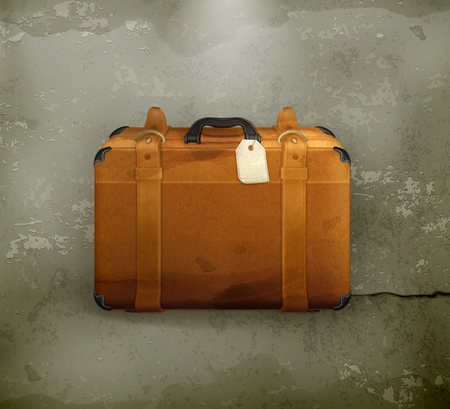 old suitcase: Baggage, old-style