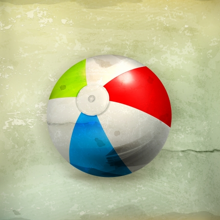 inflatable ball: Beach ball, old-style Illustration