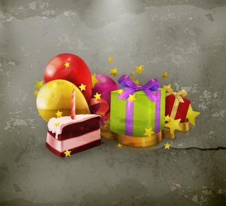 Birthday, old style Vector