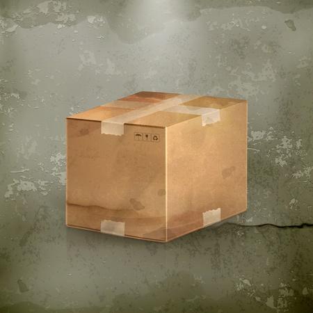 corrugated cardboard: Carton box, old-style