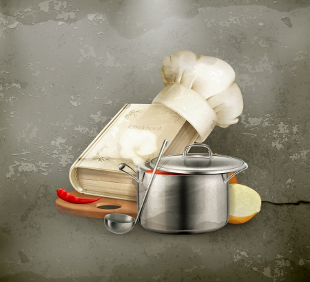 vegetable cook: Cooking icon, old style