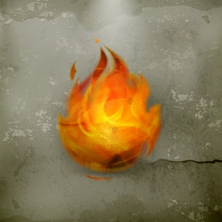 Fire, old-style Stock Vector - 18825130