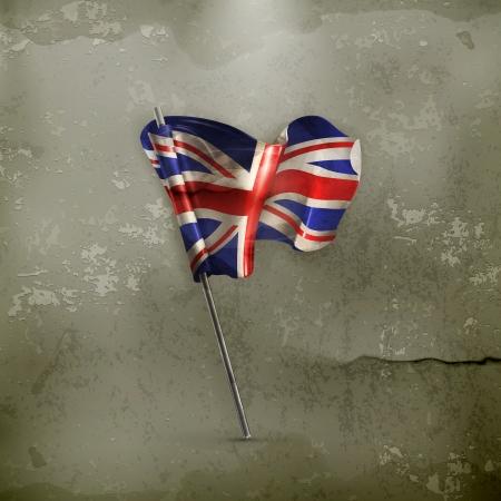 grunge union jack: Flag of the United Kingdom, old-style