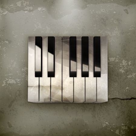 octave: Octave, piano keys old-style Illustration