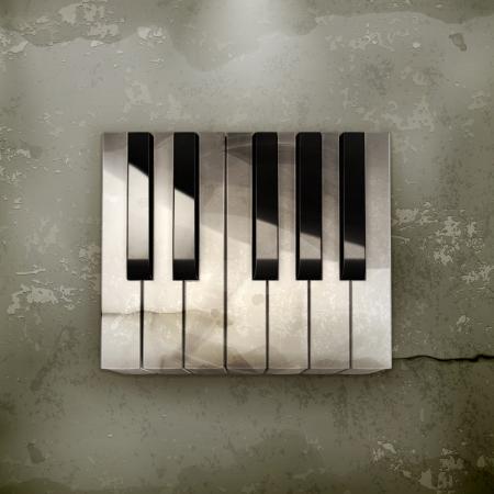 octave: Octave, piano keys old-style Illustration