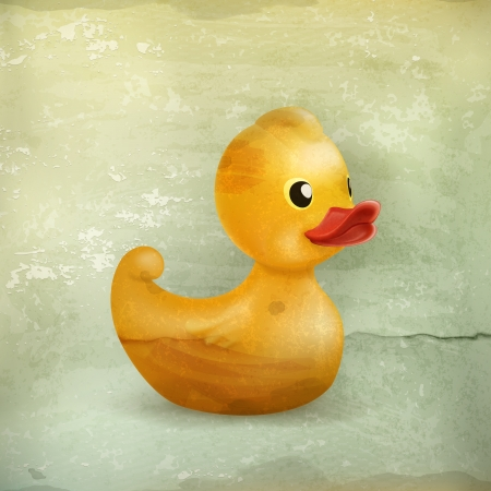 Rubber duck, old style Vector