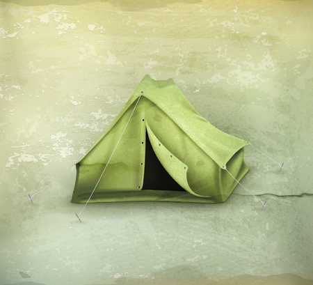 Tent, old-style Vector