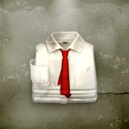 White Dress shirt, old-style Stock Vector - 18825139