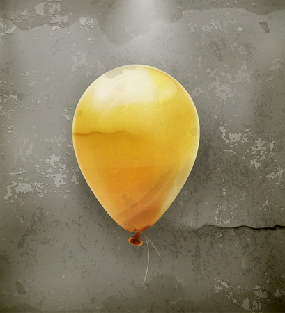 Yellow toy balloon, old style Stock Vector - 18825091