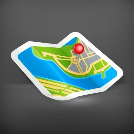 map pin: Map