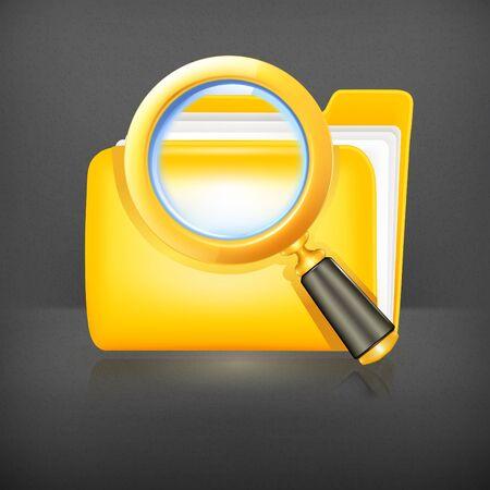 Search folder icon Stock Vector - 19239277