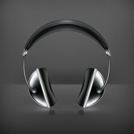 head phones: Head phones, icon Illustration