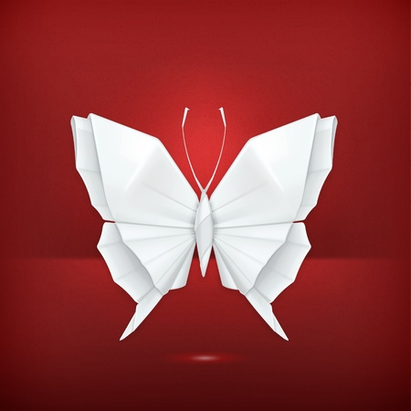 Origami butterfly Stock Vector - 19331493