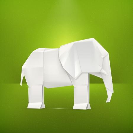 folded paper: Origami elephant