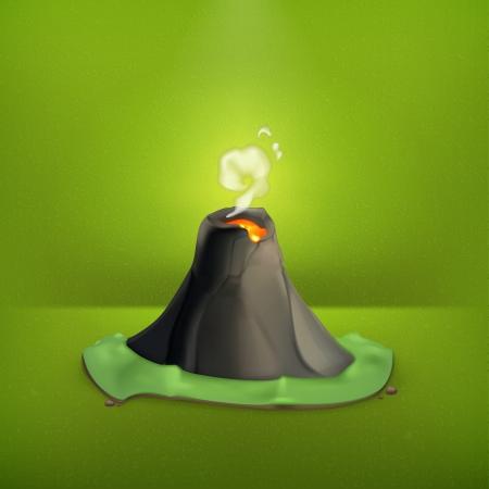 erupting volcano: Volcano, icon