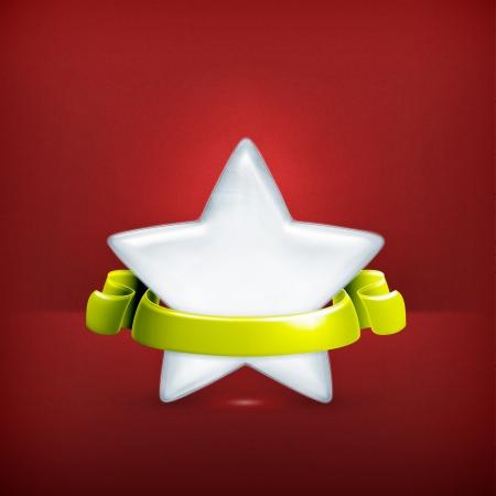 White star, award Stock Vector - 19331482