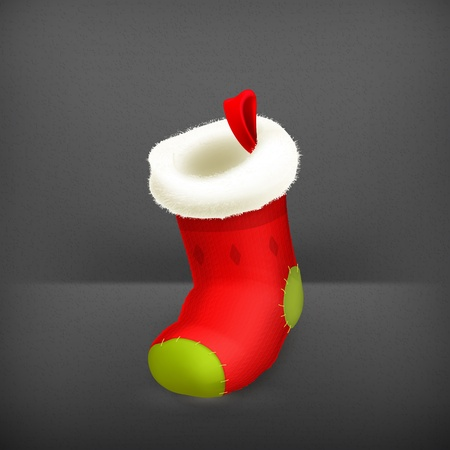 Christmas stocking Stock Vector - 19331565
