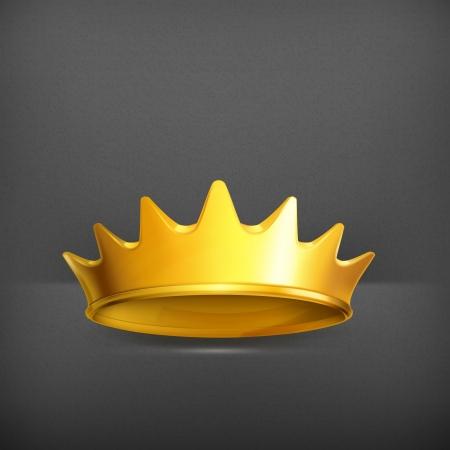 corona rey: Corona de oro Vectores