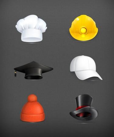 gorro chef: Sombreros establecer