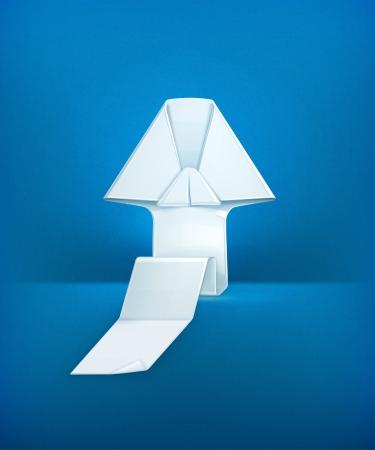 Origami arrow Stock Vector - 19331468
