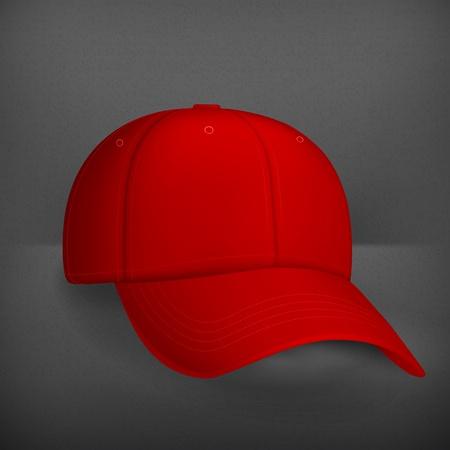 Red baseball cap Stock Vector - 19346635