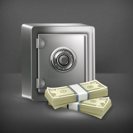 Safe and money Stock Vector - 19346850