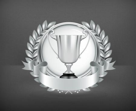 Silver Emblem Stock Vector - 19346866