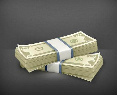stack of cash: Pila de d?lares
