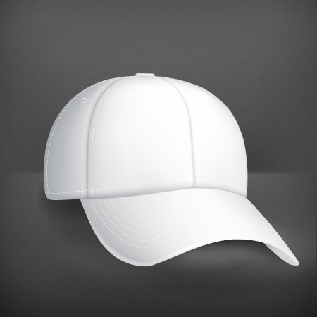 baseball game: White baseball cap Illustration