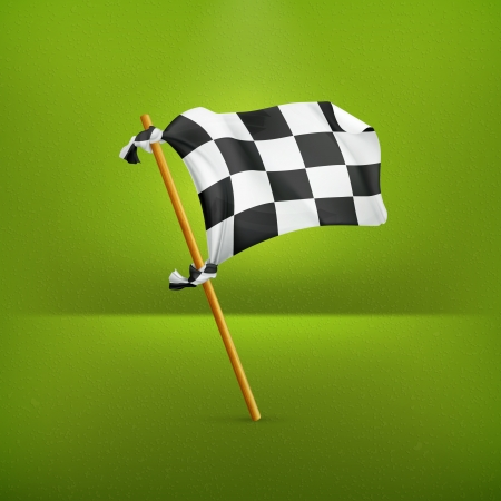 Checkered flag Stock Vector - 19346641
