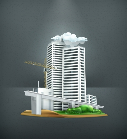 사무실 건물: 공사