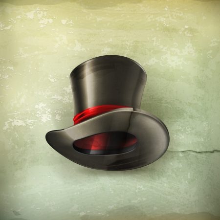 Cylinder hat, old style Vector