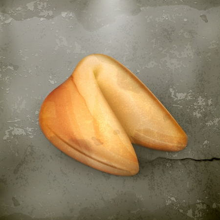 fortune cookie: Fortune cookie, old style Illustration