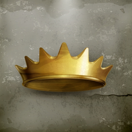 Golden crown, old style Stock Vector - 19438721