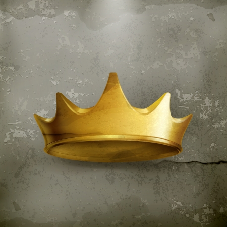 Golden crown, old style Stock Vector - 19438716