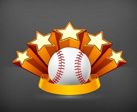pelotas de baseball: Emblema de B?isbol Vectores