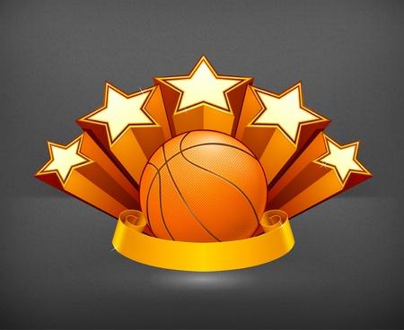 Basketball Emblem Stock Vector - 19438656